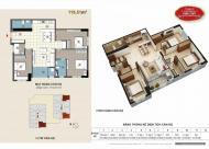 Chính chủ bán CHCC Xuân Mai Tower, căn góc, diện tích 119.54m2, giá bán 15 tr/m2