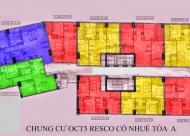 Bán căn B09 tầng 17 OCT5 Resco Cổ Nhuế, Dt 65.4m2, giá 20tr/m2