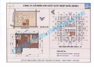 Bán căn hộ 45m,1 phòng ngủ,chung cư HH4c Linh Đàm,chênh 100 triệu,giấ gốc 14 triệu/m