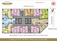 Bán căn hộ CT12 Văn Phú, DT:61-66-73-77m2, nhận nhà ngay, giá bán từ 16.7tr/m2,LH: 0936 483 136