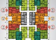 Bán chung cư The Pride Hải Phát, căn 14, dt 75m2, cửa ĐN, giá 18.5tr/m2 0906237866