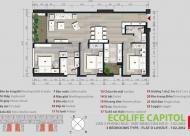 Chính chủ bán căn 1510B, DT 75m2, CC Ecolife Capitol giá bán gấp 24tr/m2. LH: 0944952552