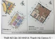 Căn hộ view hồ tòa B1.4 HH1A Thanh Hà