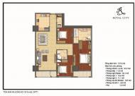 Bán chung cư Royal City tòa R5, căn số 08, 3 phòng ngủ