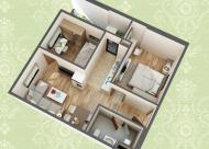 Bán căn hộ 52m2 dự án 60 Nguyễn Đức Cảnh 2 phòng ngủ, giá 1.274 tỷ