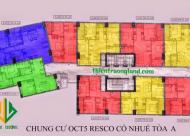 Chính chủ bán CC OCT5 Cổ Nhuế, căn góc 1203, DT 83m2, giá 18.5 tr/m2. LH 0981129026 có sổ đỏ