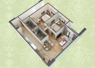 Tôi bán lại căn hộ 3 phòng ngủ 90m2 tại chung cư HUD3 Nguyễn Đức Cảnh, tầng 12