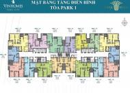 Chính chủ bán căn hộ số 2 tòa Park 1, 2 phòng ngủ, dự án Vinhomes Times City - Park Hill, diện tích 85,2 m2