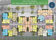 GĐ chuyển công tác, bán gấp Five Star Kim Giang, 1803: 84.25m2 G2 giá 21 tr/m2: 0961980322 C Nhung