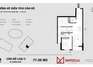 Bán căn hộ chung cư Imperia Plaza 360 Giải Phóng, căn tầng 2010 DT: 77.26m2 giá: 23tr LH: 0989540020