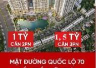 Bán căn hộ gần ĐH Quốc Gia, chỉ hơn 1 tỷ/2PN, hỗ trợ vay 70%, bàn giao full nội thất
