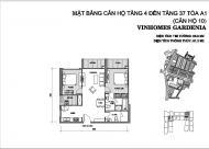 Bán gấp căn hộ Vinhomes Gardenia căn 10 tầng 16 tòa A1 diện tích (81.3m2/2PN/2WC), LH: 0981115218