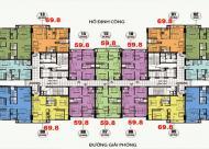 Chính chủ bán căn 1509: 69m2 CC CT36 Định Công, giá 23.8tr/m2, cô Loan 0906237866