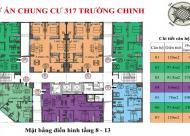 Bán căn góc chung cư tại Dự án 317 Trường Chinh Complex, Thanh Xuân, Hà Nội diện tích 91m2  giá 3.1 Tỷ