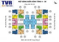 Cần bán gấp CC Tứ Hiệp Plaza căn 1108, 66,7m2, giá 19tr/m2, LH: 0963922012