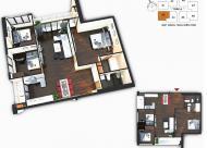 Bán gấp 2 CH chung cư Sunquare Mỹ Đình DT: 87m2 và 117,8m2, giá 27 triệu/m2