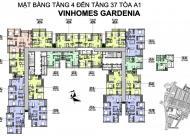Bán gấp CC Vinhomes Gardenia Mỹ Đình, tầng 19- 09, DT: 73,8m2, 2PN, giá rẻ 31tr/m. LH 0971864816