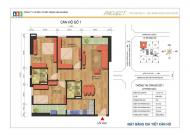 Cần bán căn góc 01 tòa N02-T1 Ngoại Giao Đoàn, Xuân Tảo, BTL. 89m2, view cầu Nhật Tân, 3.3 tỷ