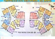 Cần tiền bán gấp căn hộ chung cư CT1B Yên Nghĩa, tầng 1509, DT: 61.49m2, 11 tr/th, 0936071228