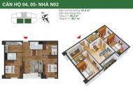 Cần bán gấp căn hộ số 08 tầng 10 tòa NO2 dự án K35 Tân Mai, 63m2, LH: Giá 24 tr/m2: 0961637026