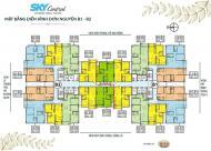 Cần tiền bán nhanh căn hộ chung cư 176 Định Công - Sky Central tầng 1902, 98.39m2 tòa 2B bán giá 28tr/m2: 0981129026